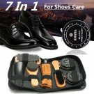 7 In 1 Shoe Shine Care Kit Polish Brush Set Boots Shoes Care for Fathers Dad Day