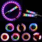 6PCS Bike Valve Lamp LED Colorful Flash Tyre Wheel Valve Cap Light for B