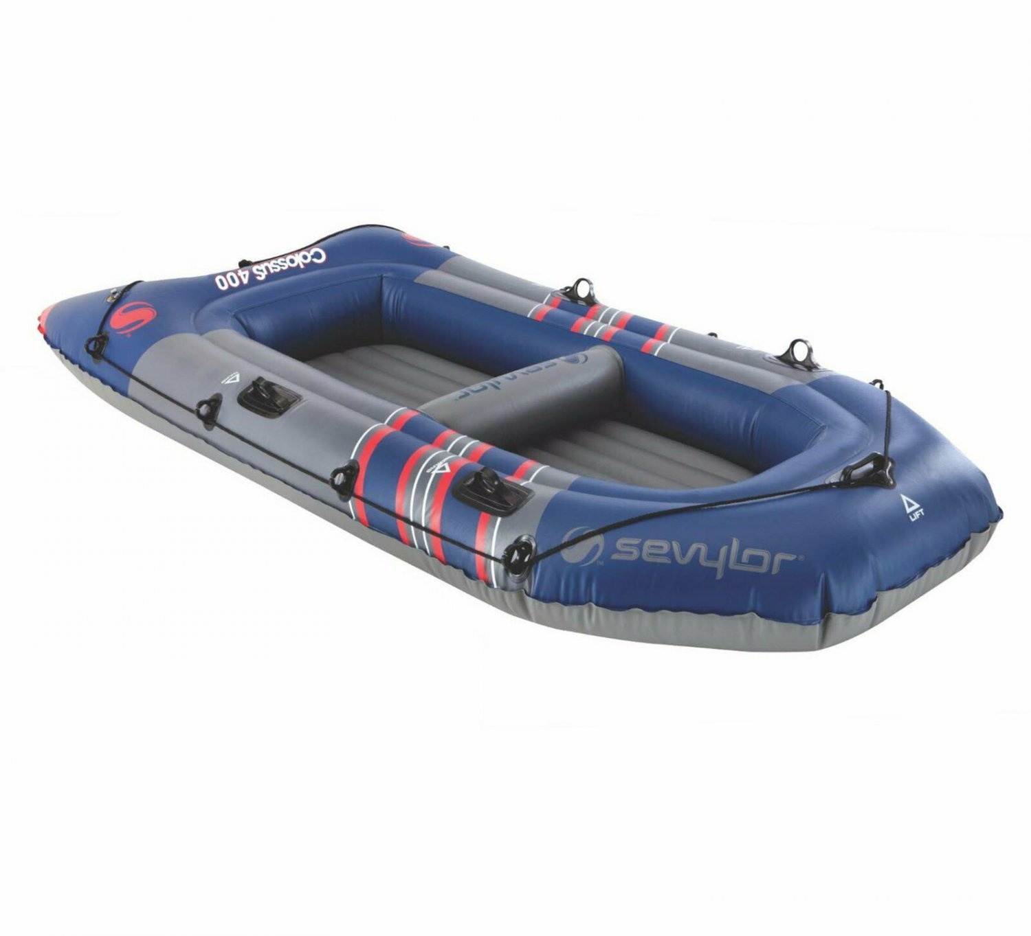 4-Person Inflatable Boat river lake sports fishing recreational Lightweight