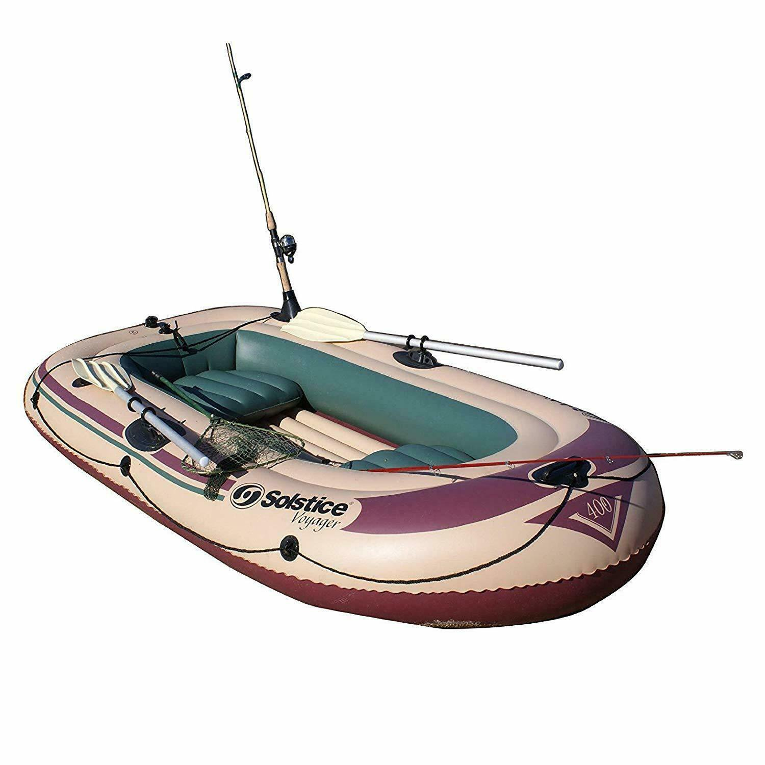 Fathers Dad Day Voyager 30400 Inflatable 4 Person Fishing Leisure Boat Raft