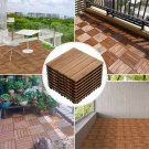 12x 12''Patio Pavers Decking Flooring Deck Tiles Interlocking Wood Pattern DIY