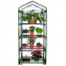 4 Tier Mini Greenhouse Portable Deck Patio Greenhouse with Shelves