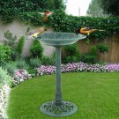 Birdbath Height Pedestal Bird Bath Outdoor Garden Decor Vintage Yard Art--V