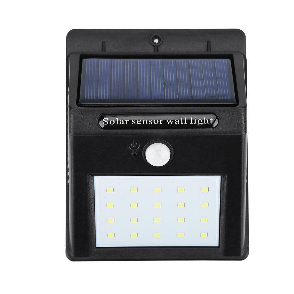 HERCHR Portable Outdoor Waterproof Solar Power LED Motion Induction Lamp Sensor