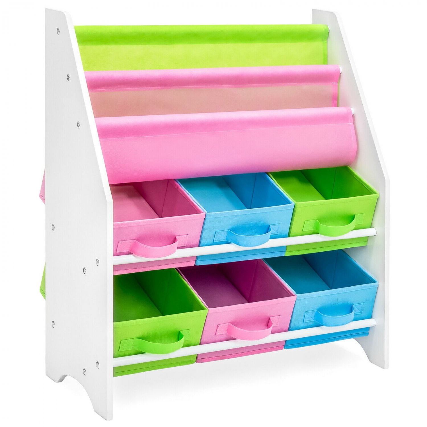 Kids Furniture Toy and Bookcase Storage Shelf Organizer Nursery Play Space