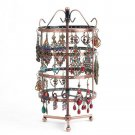 Earring Holder 4 Tiers Rotating Jewelry Tower 360 Degree Table Top 92 Pairs Earr