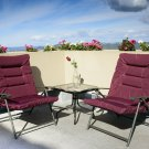 3 Pieces Outdoor Patio Furniture Padded Folding Bistro Sets for Yard or Deck