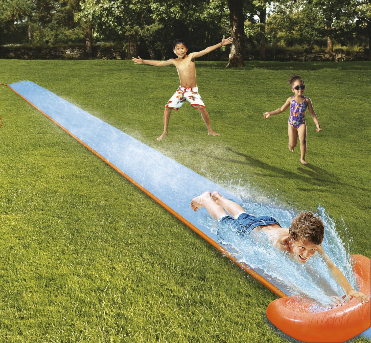 Single Super Water Slide for kids and adults Summer Wet and Wild Yard Pool