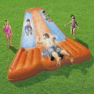 Inflatable Triple Water Slide Kids Toy Slip N Slide Backyard Play Spray Splash