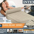 Intex 8924714 Dura-Beam Headboard Air Bed Queen Pump included Beige