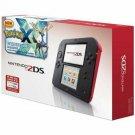 Refurbished Nintendo 2DS Crimson Red With Pre-Installed Pokemon X Game Handheld