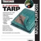 Master Tradesman 20' x 30'Hunter Green/Brown Polyethylene Storage Tarp Cover