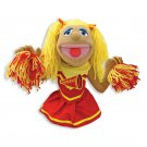 Cheerleader Theater Puppet Golden Hair Top Puppet Glove