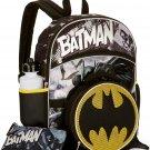 Batman 5-Piece Backpack Set With Lunch Bag Back 2 School Gear