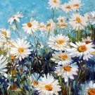 Tinymills Paint by Numbers White daisy DIY Acrylic Painting Kit for Kids Adult