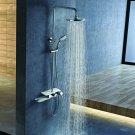 Stainless Steel Panel Rainfall Shower Column w /Hand Shower