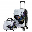 Butterfly 2 Piece Hardside Carry-on Spinner Luggage Set - Butterfly