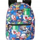 """Nintendo Super Mario Bros. 16"""" Backpack Back 2 School Gear"""