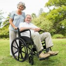 """24"""" Lightweight Foldable Medical Wheelchair with Footrest"""