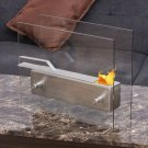 Stainless Steel Portable Ventless Bio Ethanol Tabletop Fireplace