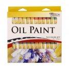 24 Color Set of Art Oil Paint in 12ml Tubes - Rich Vivid Colors for Artists, Stu