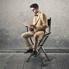 Portable Folding Beech Wooden Makeup Artist Chair