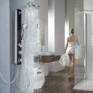 Tempered Glass Shower Column Body Joints w/ Hand Head Shower