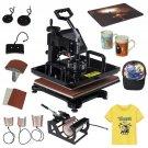 8 in 1 Transfer Digital Heat Press Machine T shirts Cups key chains