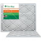 AFB Bronze MERV 6 20x25x1 Pleated AC Furnace Air Filter. Pack of 2 Filters. 100%