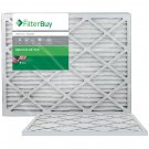 AFB Silver MERV 8 20x25x1 Pleated AC Furnace Air Filter. Pack of 2 Filters. 100%
