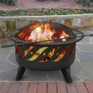 Landmann 23172 Patio Lights Firewave Firepit, Black