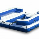 Intex Oasis Island Inflatable Giant 5 Person Lake/River Floating Fun Lounge Raft