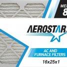16x25x1 AC and Furnace Air Filter by Aerostar, Model: 16X25X1 M08 - MERV 8, Box