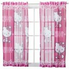 "Sanrio Hello Kitty Sheer Window Panel Drape - 42x63"""