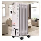 Costway 1500W Electric Oil Filled Radiator Space Heater 5-Fin Thermostat Room Ra