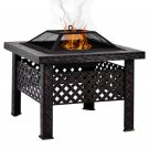 """Magshion 26"""" Square Woven Fire Pit Fire Bowl BBQ Burning Grill Patio Heater"""