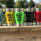 Angels Den Self Stirring Coffee Travel Mug Electric Green