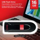Sandisk Cruzer Glide 16GB Flash USB 2.0 Drive - SDCZ60-016G-B35