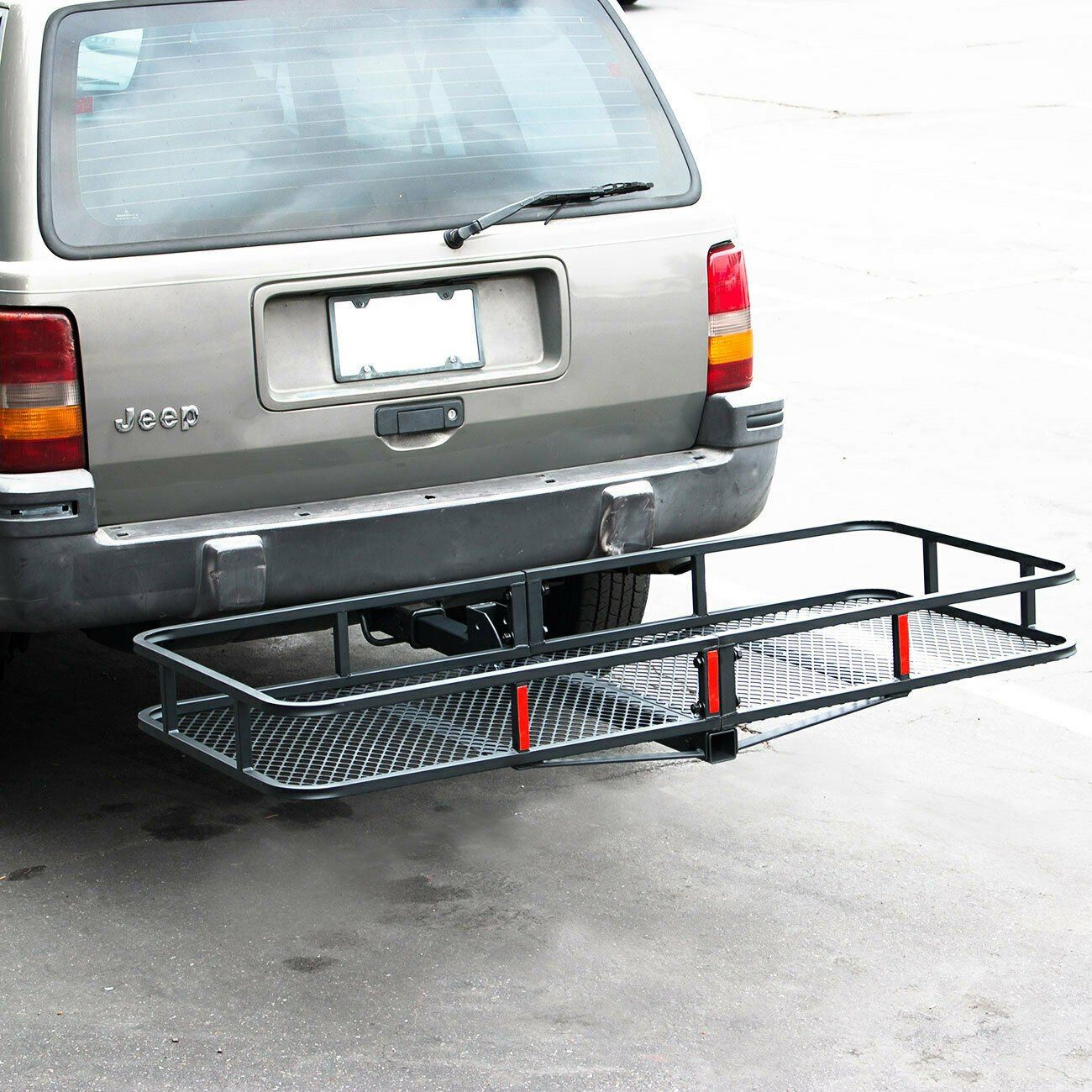 """Folding Cargo Carrier Luggage /Equipment 2"""" Receiver Hitch 60"""" Stop Renting it"""