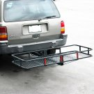 "Folding Cargo Carrier Luggage /Equipment 2"" Receiver Hitch 60"" Stop Renting it"