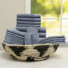 100% Cotton 24-Piece Cotton Bath Towel Set Collection