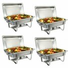 Upgraded 8 Qt Stainless Steel Chafer Dishes, Full Size Chafer Chafing Dish