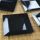 BalsaCircle 10 pcs Disposable Plastic Square Plates for Wedding Reception Party