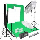 Ktaxon Photo Studio Photography Kit 45W Light Bulb Lighting 3 Color Backdrop Sta