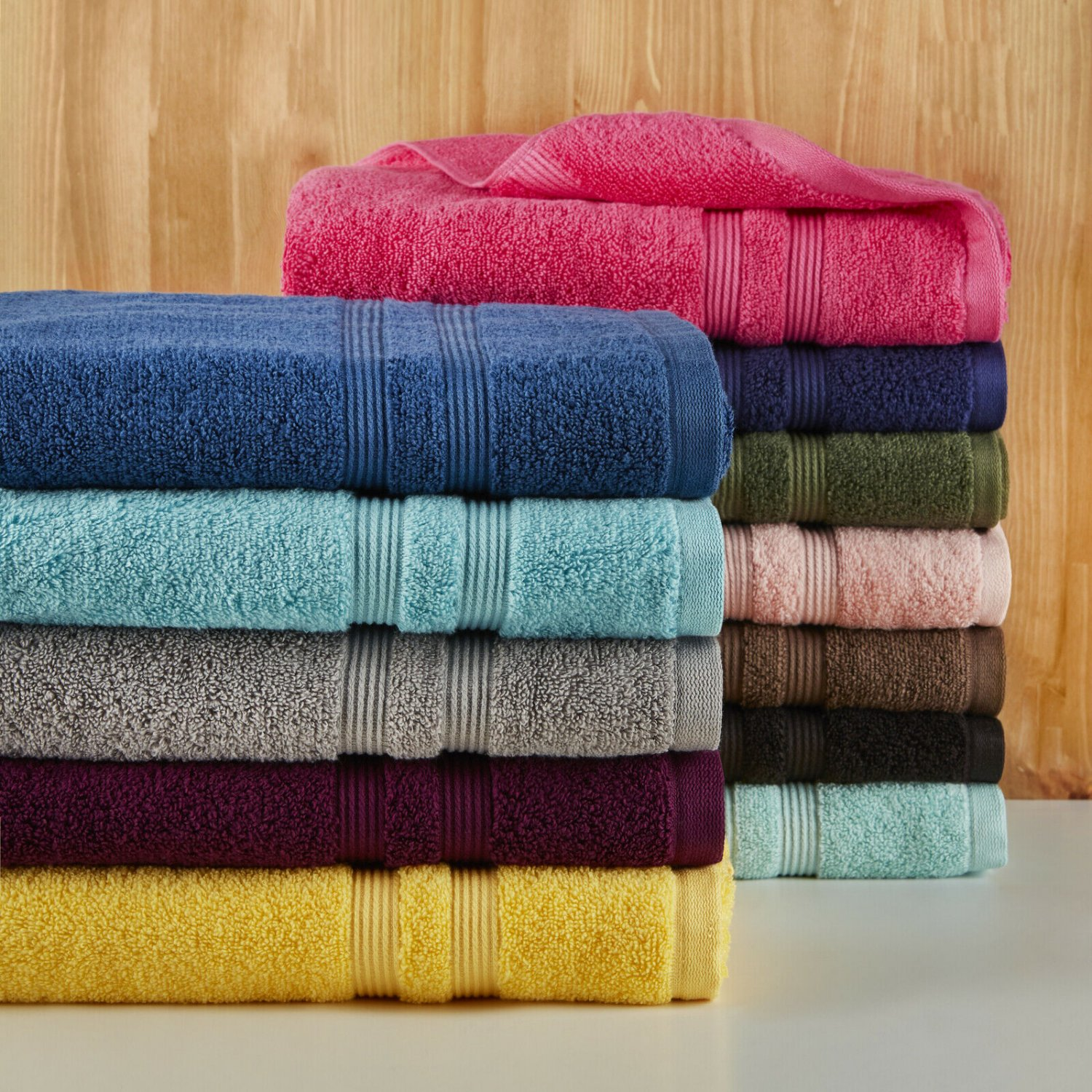 Solid Performance Cotton Towel Set - 6 Piece Set by Mainstays