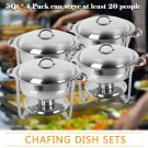 Zimtown Round Chafing Dish 5 Quart Stainless Steel Tray Buffet Catering, Dinner