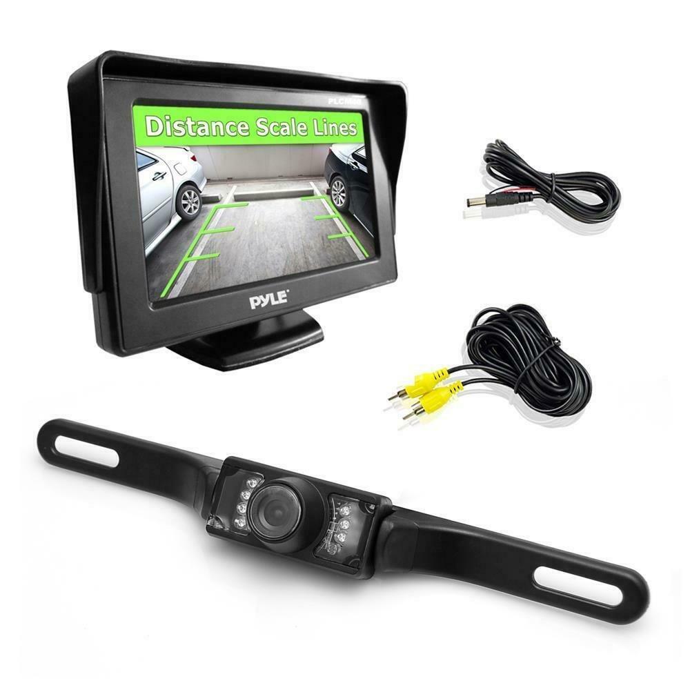 PYLE PLCM46 - Backup Rear View Car Camera Monitor Screen System Kit - Parking