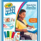 Crayola Color Wonder Stow And Go, 30 Page Coloring Pad, 4 Color Wonder Markers,