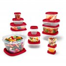 Rubbermaid Easy Find Vented Lids Food Storage Containers, 24-Piece Set Plus Bonu