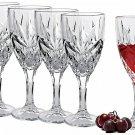 Bezrat Set of 6 Bezrat White Wine Glasses Superior Lead Free Crystal Beautifully